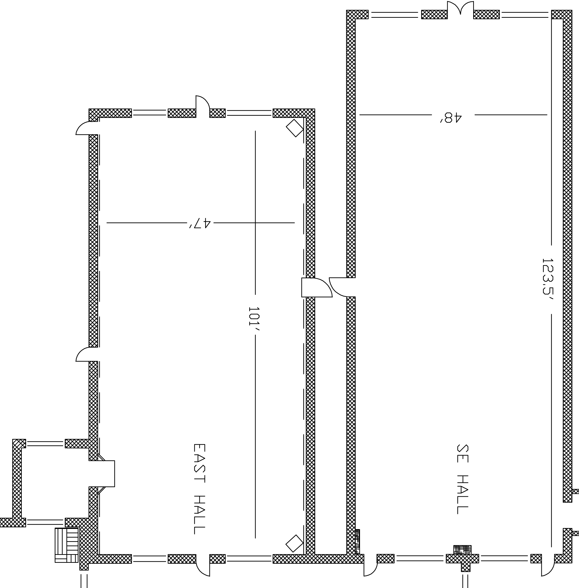 East and Southeast Hall - Floor Plan