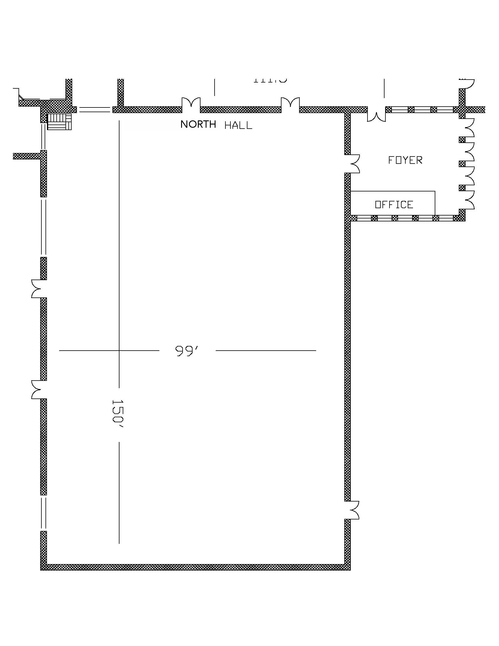 North Hall - Floor Plan